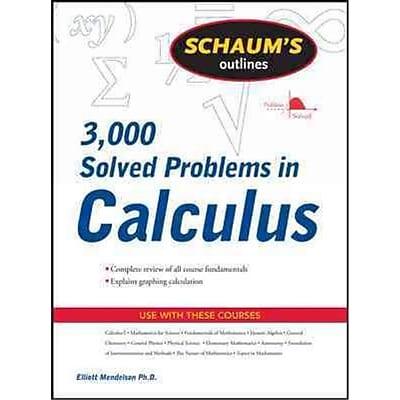 3000 Solved Problems in Calculus Elliott Mendelson Paperback