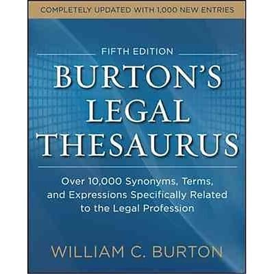 Burton's Legal Thesaurus William Burton Paperback
