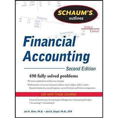 Schaum's Outlines Financial Accounting Jae Shim, Joel G. Siegel Paperback