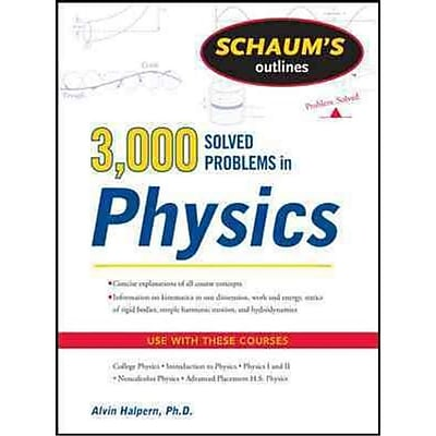 Schaum's Outlines 3,000 Solved Problems in Physics Alvin Halpern Paperback
