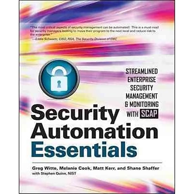 Security Automation Essentials Greg Witte , Melanie Cook , Matt Kerr , Shane Shaffer Paperback