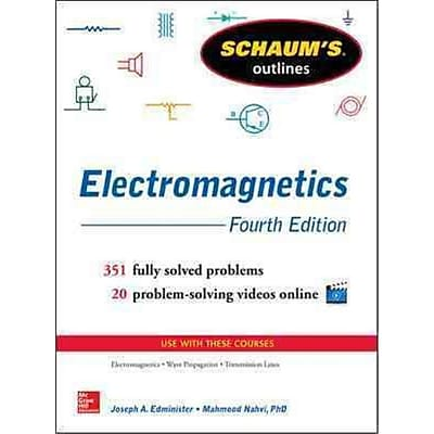 Schaum's Outline of Electromagnetics Joseph Edminister Paperback