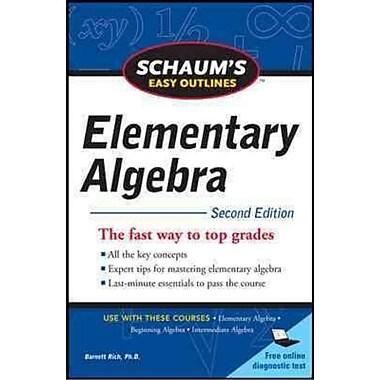 Schaums Easy Outline Elementary Algebra Barnett Rich Paperback