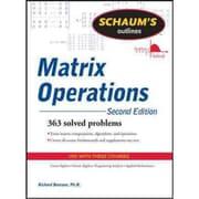 Schaum's Outlines Matrix Operations Richard Bronson Paperback
