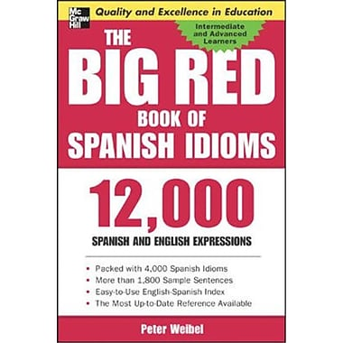 The Big Red Book of Spanish Idioms Peter Weibel Paperback