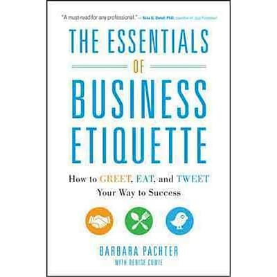 The Essential Of Business Etiquette Barbara Pachter Paperback