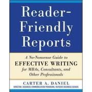 Reader-Friendly Reports Carter Daniel Paperback