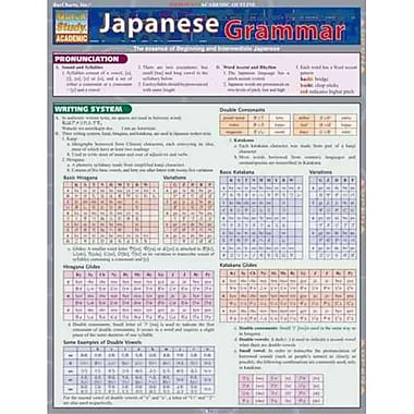 Japanese Quick Reference Guide Inc. BarCharts Grammar