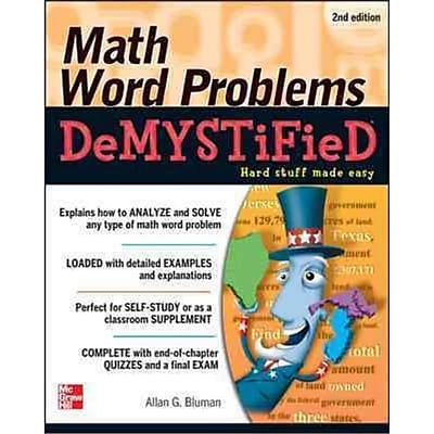 Math Word Problems Demystified Allan Bluman Paperback