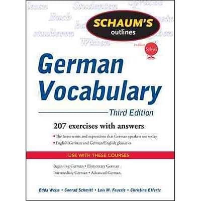 Schaum's Outline of German Vocabulary Edda Weiss, Conrad Schmitt , Lois Feuerle, Christine Effertz Paperback