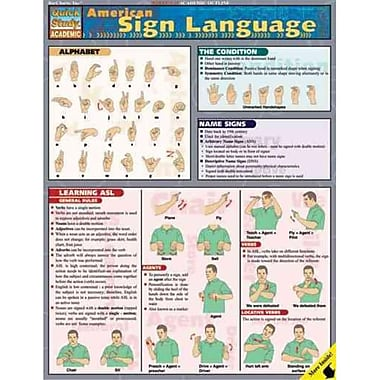 American Sign Language Inc. BarCharts Pamphlet