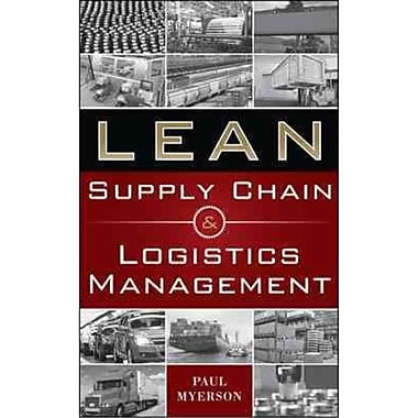 Lean Supply Chain and Logistics Management Paul Myerson Hardcover