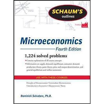Schaum's Outline of Microeconomics Dominick Salvatore Paperback