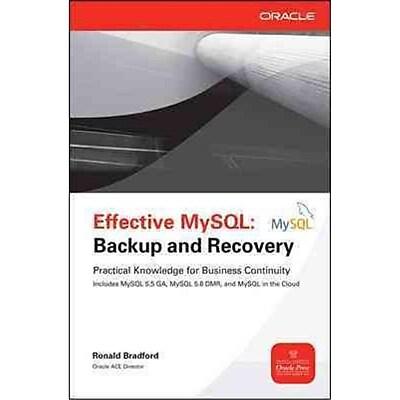 Effective MySQL Ronald Bradford Paperback