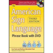 The American Sign Language Phrase Book Barbara Bernstein Fant, Lou Fant Paperback with DVD