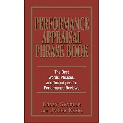 Performance Appraisals Phrase Book Janice Keefe, Corey Sandler Paperback
