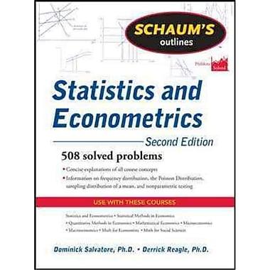 Schaum's Outline of Statistics and Econometrics Dominick Salvatore, Derrick Reagle Paperback