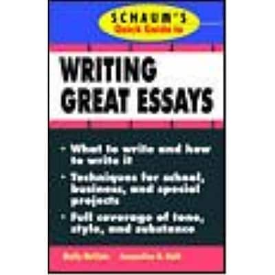 Schaum's Quick Guide to Writing Great Essays Molly McClain, Jacqueline Roth Paperback