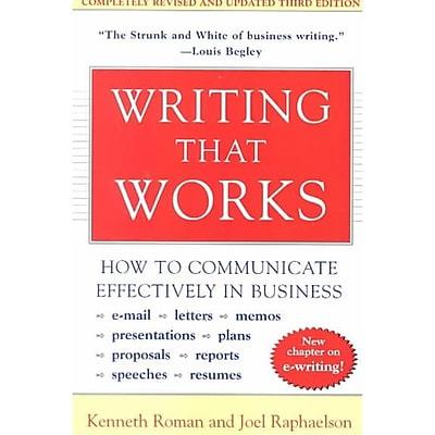 Writing That Works Kenneth Roman, Joel Raphaelson Paperback