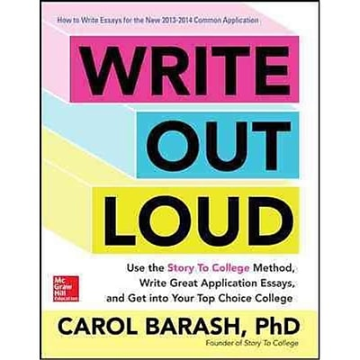 Write Out Loud Carol Barash Paperback