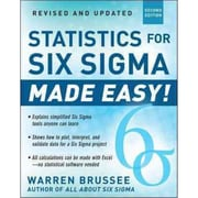 statistics for six sigma Made Easy! Warren Brussee Paperback
