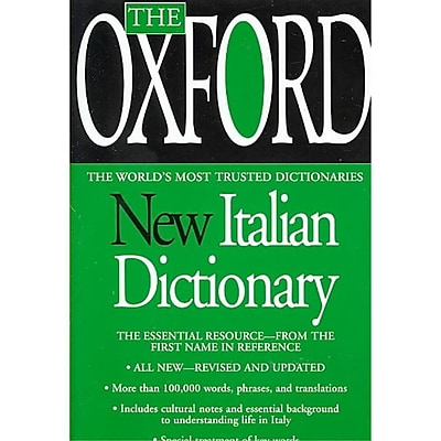 The Oxford New Italian Dictionary Oxford University Press Mass Market Paperback