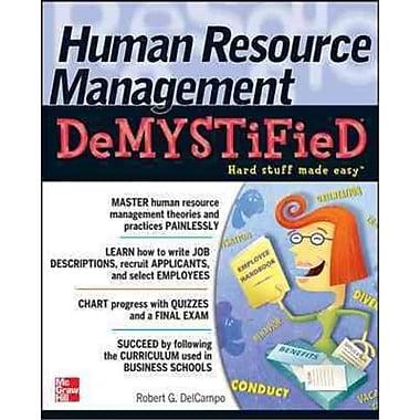Human Resource Management Demystified Robert G. DelCampo Paperback