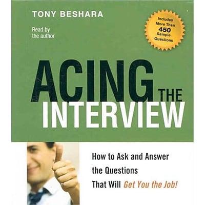 Acing the Interview Tony Beshara Audiobook CD