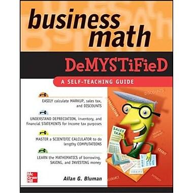 Business Math Demystified Allan Bluman Paperback