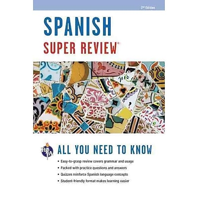 Spanish Super Review, 2nd Ed. (Super Reviews Study Guides) (English and Spanish Edition)
