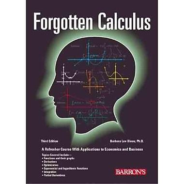 Forgotten Calculus Barbara Lee Bleau Paperback