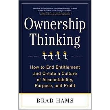 Ownership Thinking Brad Hams Hardcover