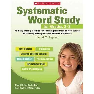 Systematic Word Study For Cheryl Sigmon Grades 2-3
