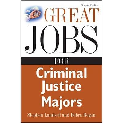 Great Jobs for Criminal Justice Majors Stephen Lambert , Debra Regan Paperback