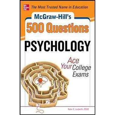 McGraw-Hill's 500 College Psychology Questions Kate C. Ledwith Paperback
