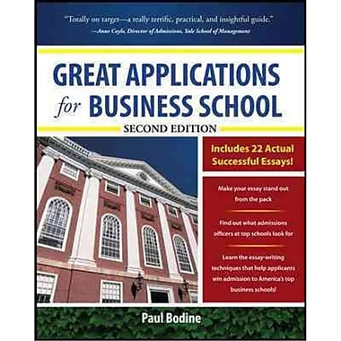 Great Applications for Business School Paul Bodine Paperback