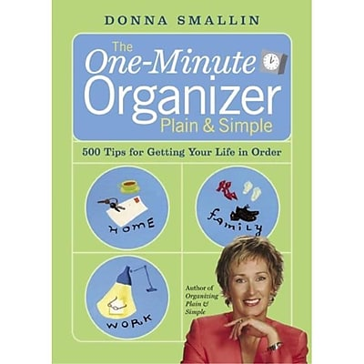 The One-Minute Organizer Plain & Simple Donna Smallin Paperback