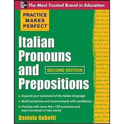 Practice Makes Perfect Italian Pronouns and Prepositions Daniela Gobetti Paperback