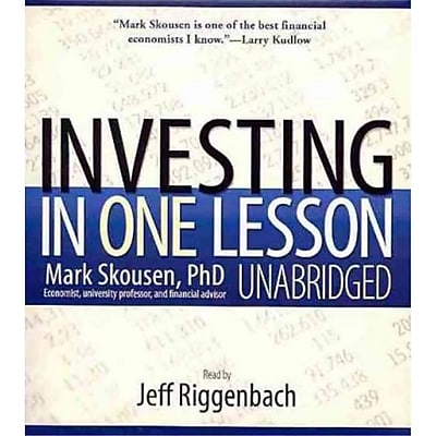 Investing in One Lesson Mark, Ph.D. Skousen Audiobook