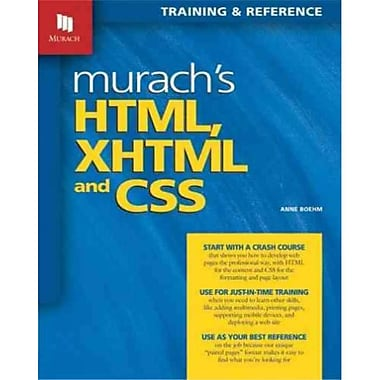 Murach's HTML, XHTML, and CSS, New Book