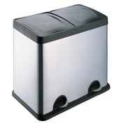 HQV 48L 2-Compartment Wastebasket and Recycling Bin
