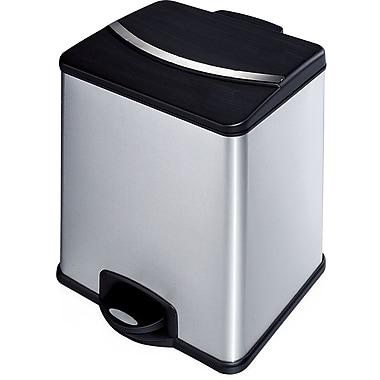 HQV – Poubelle à 2 compartiments, déchet/recyclage, 36 L