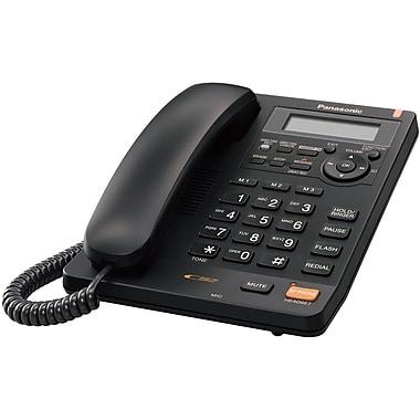 Panasonic KX-TS620B Single Line Corded Office Telephone, Black