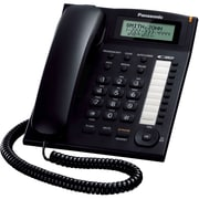 Panasonic® KX-TS880 Corded Telephone System W/Call Waiting Caller ID, 50 Name/Number, Black