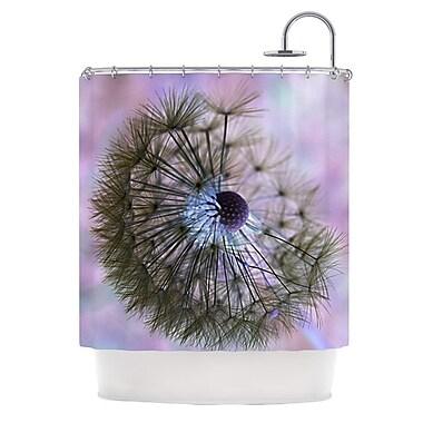 KESS InHouse Dandelion Clock Shower Curtain