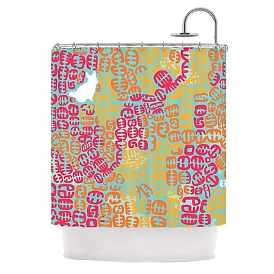 KESS InHouse Oliver Shower Curtain; Magenta