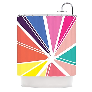 KESS InHouse Boldly Bright Shower Curtain