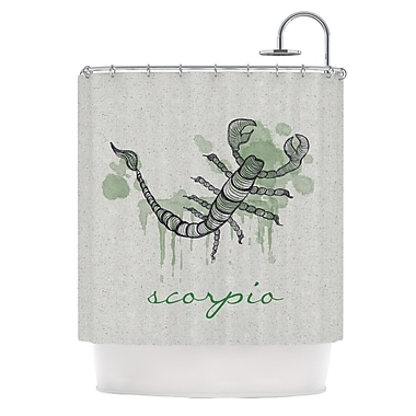 KESS InHouse Scorpio Shower Curtain