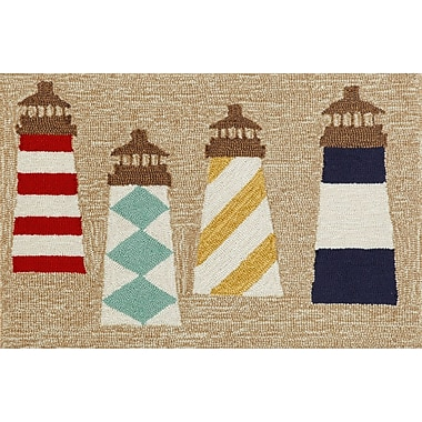 Liora Manne Frontporch Lighthouses Area Rug; 2'6'' x 4'