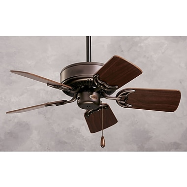 Emerson Fans 29'' Northwind 5 Blade Fan; Oil Brushed Bronze with Cherry/Walnut Blades